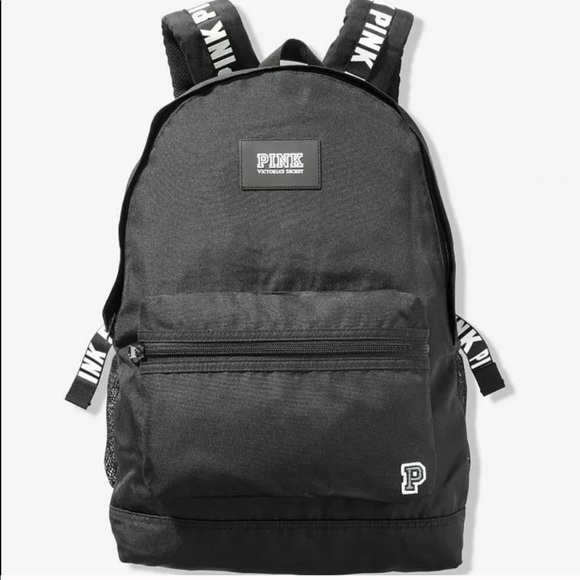VS PINK CAMPUS Backpack Pure Black NWT in package